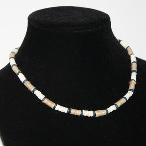 """Vintage Beach Shell Necklace 17"""""""